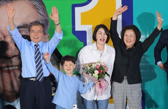 Image result for 문다혜씨 일가